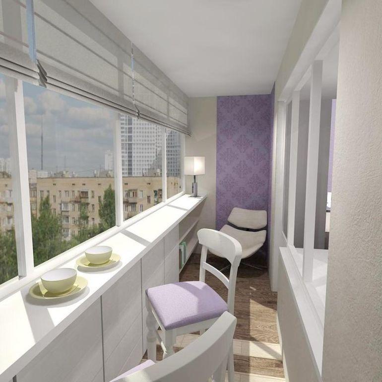 фото балкона с циан гаване