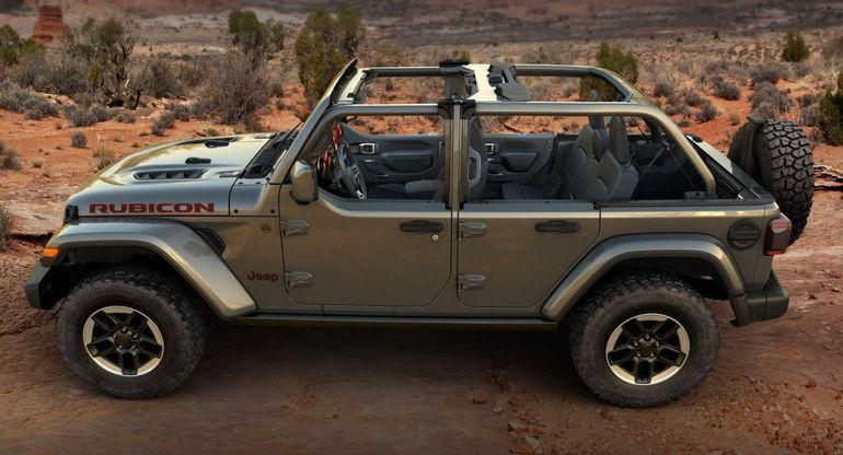 Дебютировал Jeep Wrangler Half Doors для любителей вождения под открытым небом