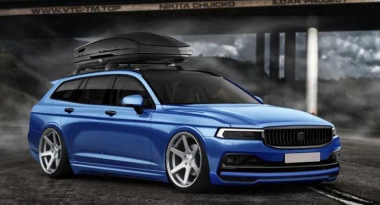 Дизайнер показал новое видение универсала ГАЗ «Волга»
