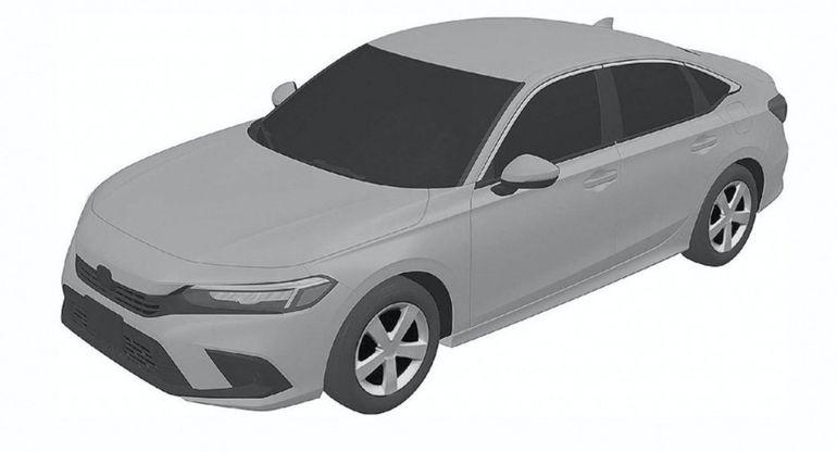 В Сеть попали снимки обновленного Honda Civic 2022 года