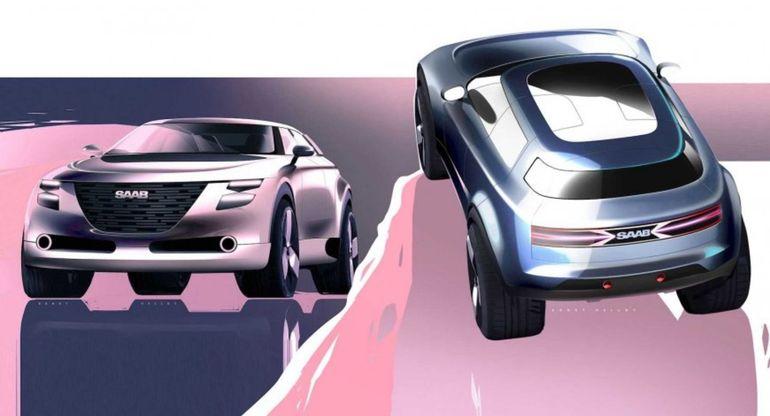 В Сети появился неофициальный рендер на новый кроссовер Saab
