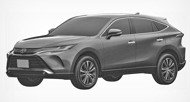 Новая Toyota Venza запатентована в России