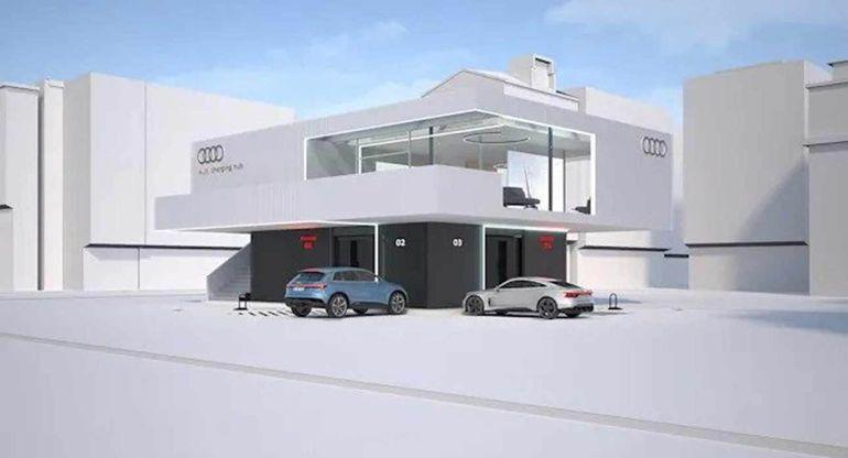 Audi показала прототип 300-киловатной зарядной станции для электрокаров