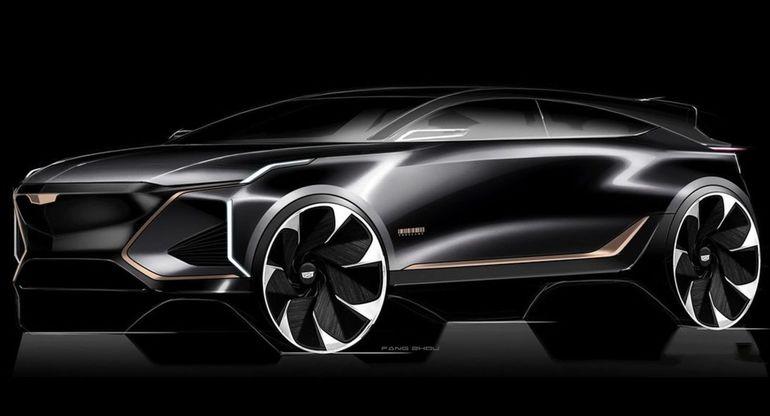 В сети появился рендер на кроссвер футуристического стиля Lyriq, Cadillac, электрический, Инстаграм, представили, только, ожидать, можно, Поэтому, готов, прототип, официальной, Представленный, версией, окончательной, является, производствоМодель, запущено, апреле, впервые