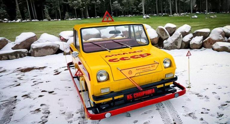 В России продают советскую мотоколяску по цене двух новых моделей Lada Granta