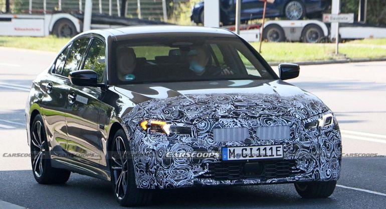 Обновленный BMW 3 серии 2023 года появился на тестах с улучшенным стилем