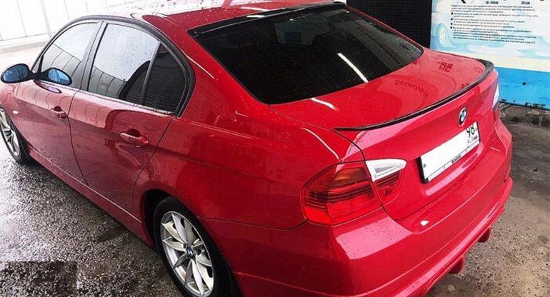 Установка спойлера М3 на багажник BMW E90